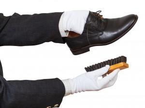 Cirage de la chaussure